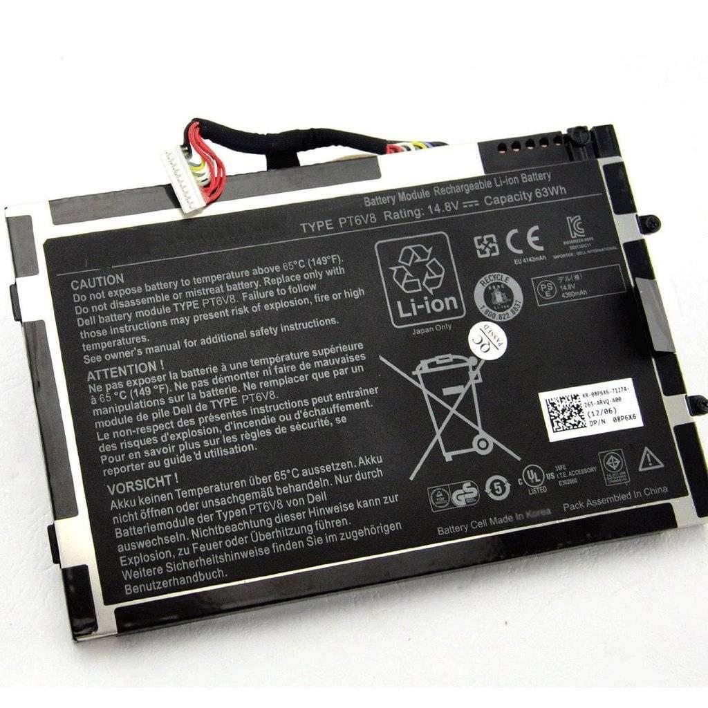 BPX batería del ordenador portátil 63Wh 14.8V PT6V8 8P6X6 for Dell Alienware M11x R1 R2 R3 T7YJR P06T: Amazon.es: Electrónica