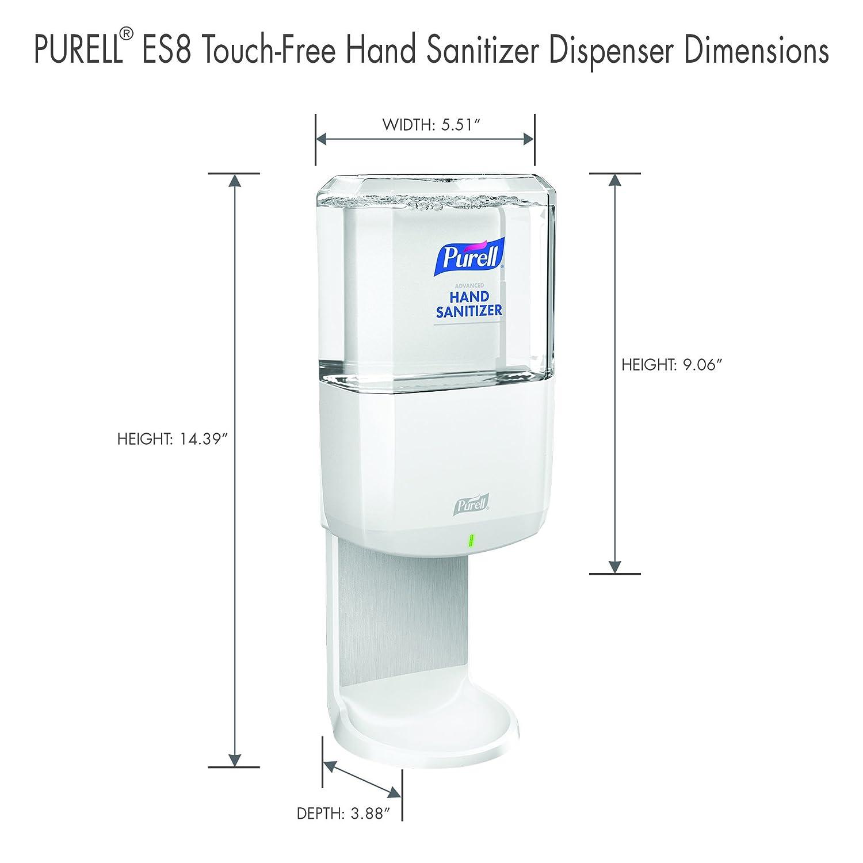 Purell Es8 Hand Sanitiser Dispenser White With Refill Dispenser