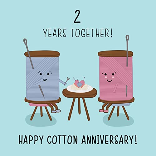 Cotton Wedding Anniversary Ideas: My Husband 2nd Wedding Anniversary Card