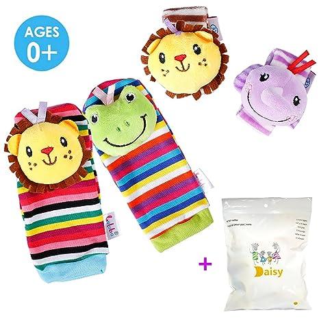 Deardeer 4 x bebé bebé bebé animal Rattles juguetes muñequeras ...