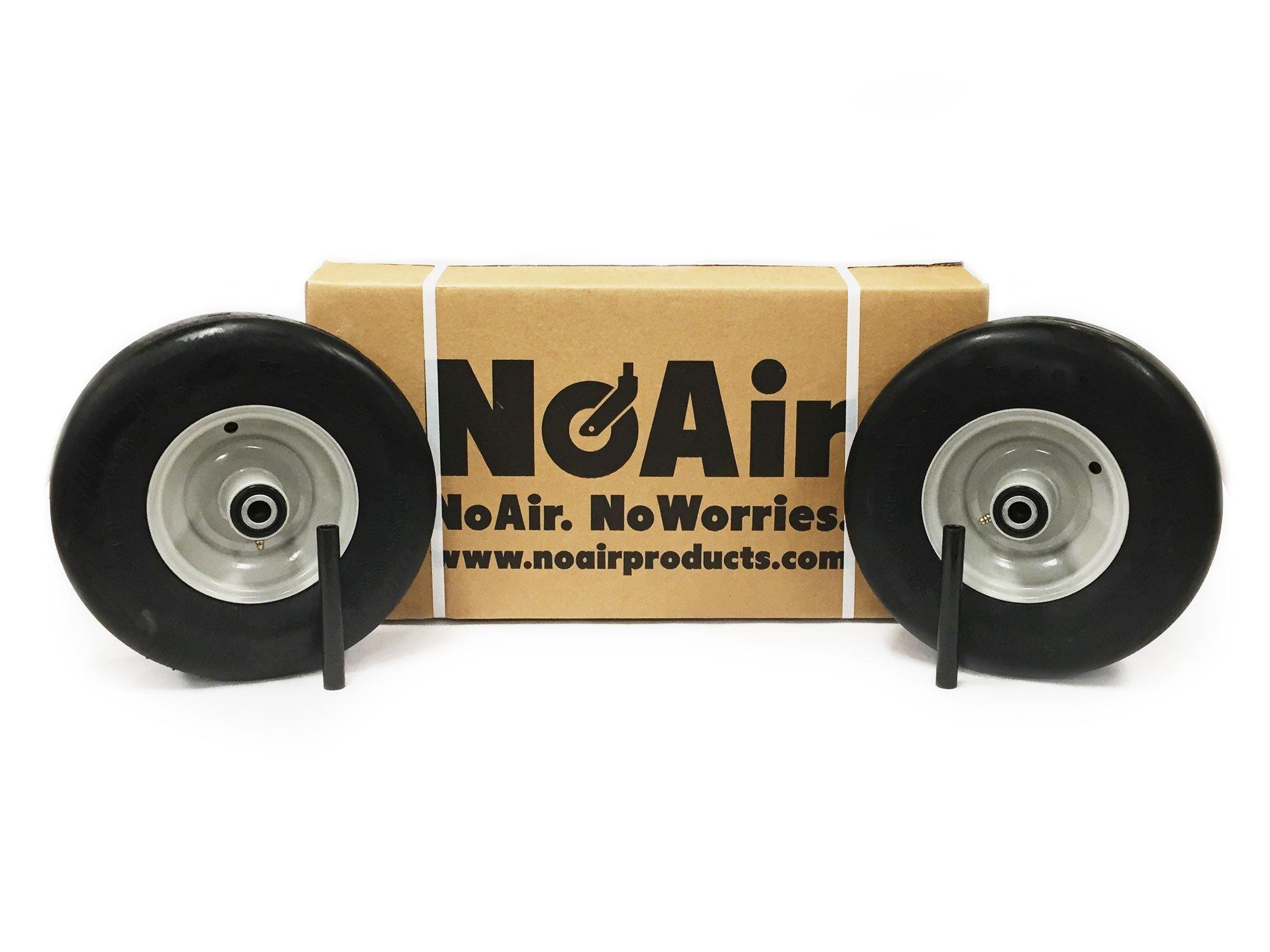 (2) Gravely Ariens Flat Free Tire Assemblies 13x5.00-6 Light Gray Repl 07100835 by NoAir