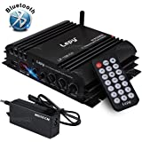NKTECH 3A Power Supply Lepy LP-168 Plus Bluetooth 2.1 Channel IR 2x 45W 1x 68W Hi-Fi Digital Stereo Bass Audio USB MP3 MP4 DVD Car Amplifier With Remoter
