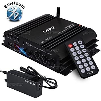 NKTECH 5A Power Supply Lepy LP-168S 2.1 Channels 2x 40W 68W RMS Output Super Bass Digital Stereo Audio Hi-Fi Amplifier For Car Motorcycle MP3 MP4 Computer Speaker LP-168HA Upgrade