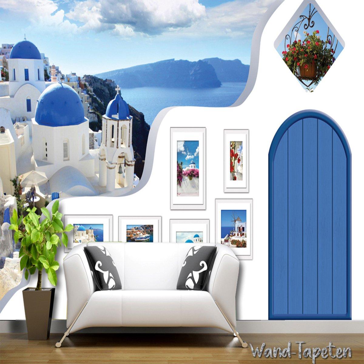 Fleece Photo Wallpaper - Wall Mural 3D Wall Picture Mediterranean ...