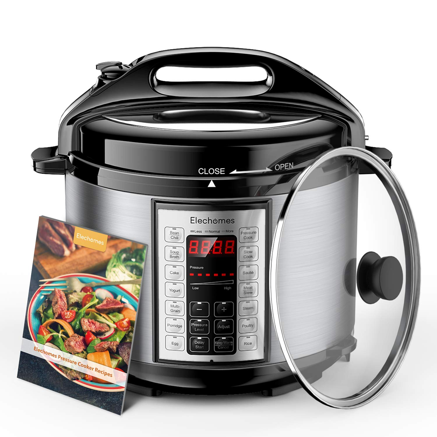 Elechomes Electric Pressure Cooker 6 Qt with Stainless Steel Inner Pot 9-in-1 Crock Pot Multi-use Programmable Slow Cooker, Rice Cooker, Yogurt Cake Maker, Sauté Steamer, Warmer, and Sterilizer