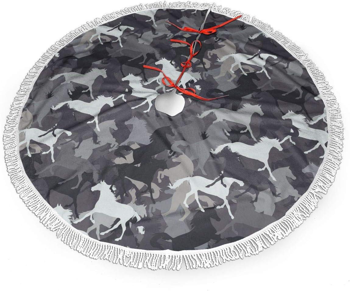 Falda colorida del árbol de Navidad del caballo del gjhj para la decoración, decoración festiva del partido del día de fiesta del año nuevo