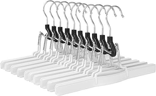 SONGMICS CRI07WT-10-10 Perchas para Pantalones (Metal, para Faldas ...