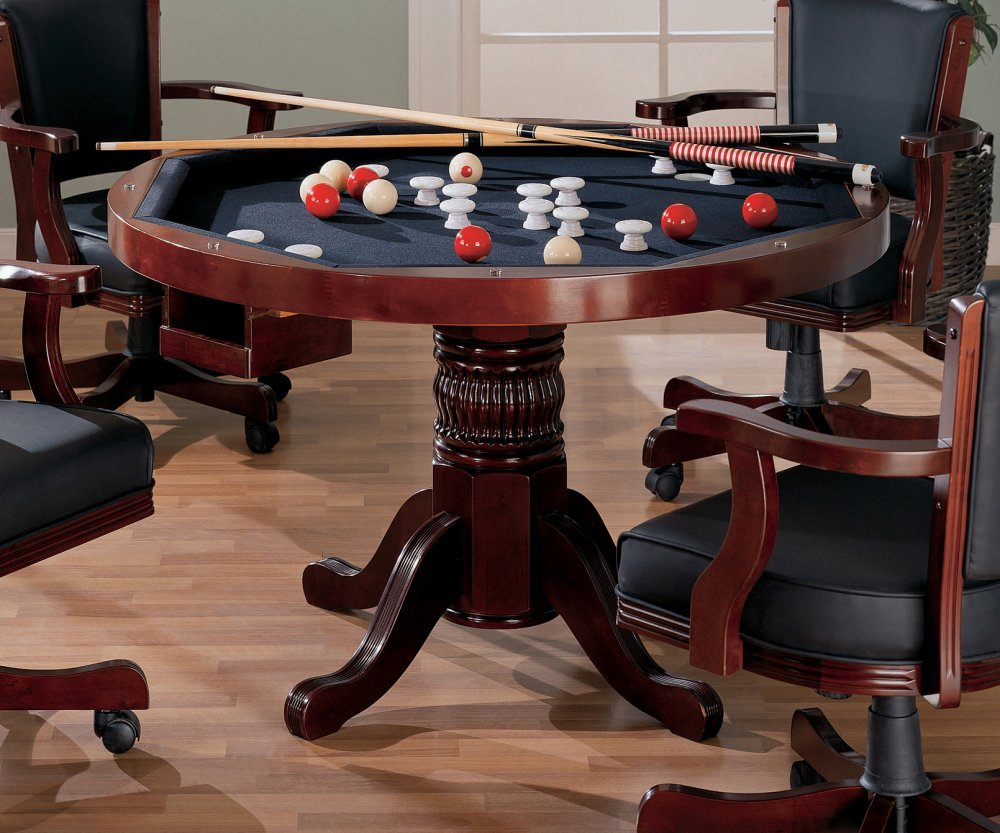 Amazon.com: 3 IN 1 GAME TABLE POKER POOL PEDESTAL TABLE: Kitchen U0026 Dining