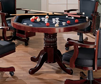 3 IN 1 GAME TABLE POKER POOL PEDESTAL TABLE