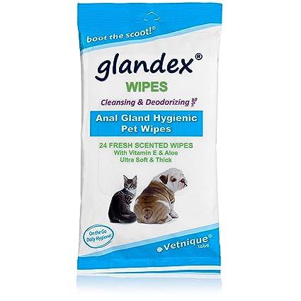 Glandextoallitas húmedas para Limpiar y desodorizar la glándula Anal - 24 toallitas húmedas