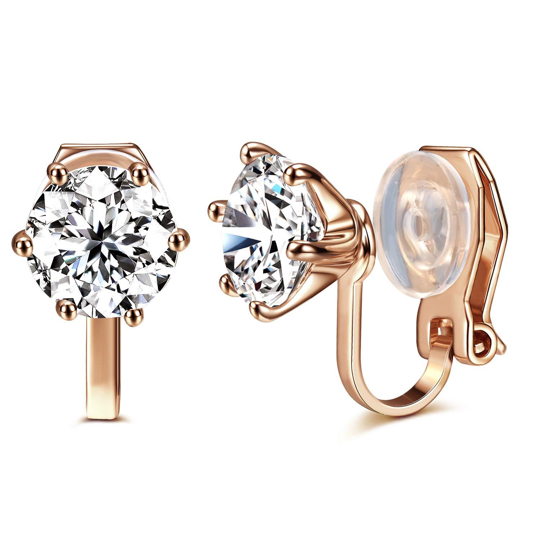 Clip Earrings Earrings Vintage Rhinestone Opal Square Earrings Non Pierced Earrings Woman Ear Clip On Earrings For Party Wedding Jewelry No Ear Hole