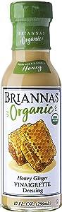 BRIANNAS Organic Honey Ginger Vinaigrette Dressing, 10 Fl Oz