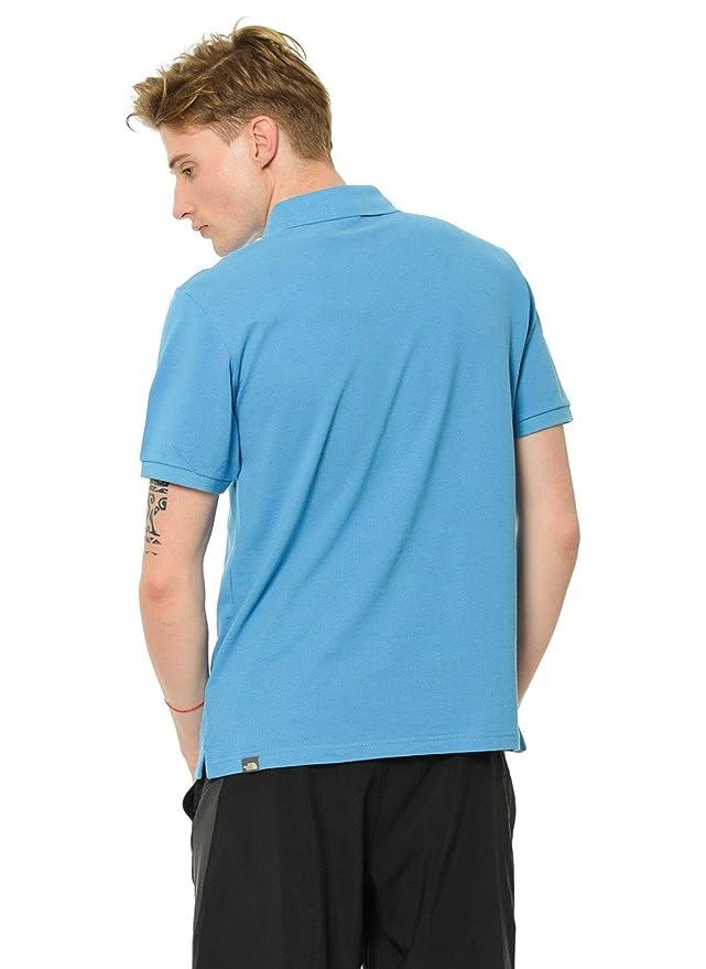 The North Face Polo Piquet, Hombre, Azul (Cendre Blue), X-Large ...