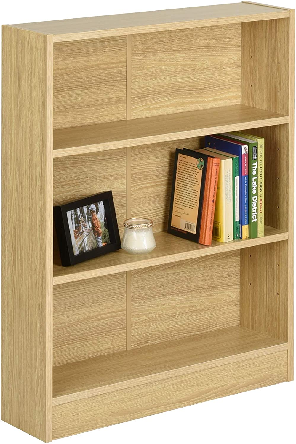 Hartleys Oak 3 Tier Bookcase