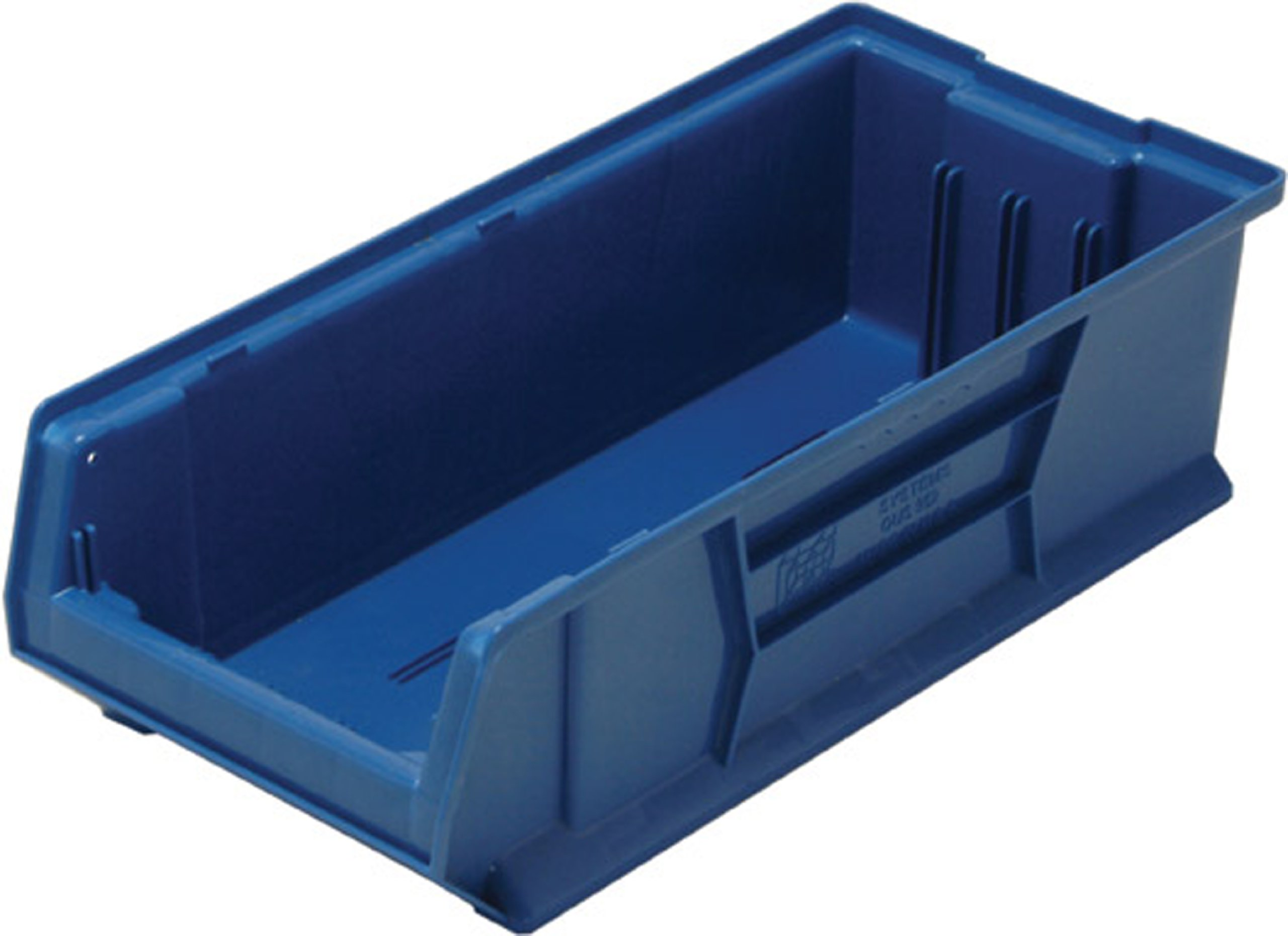 Quantum QUS952 Plastic Storage Stacking Hulk Container, 24-Inch by 11-Inch by 7-Inch, Blue, Case of 4