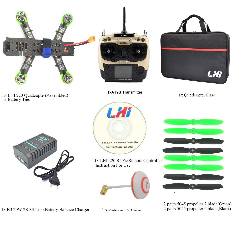 Lhi Fpv Rtf Full Carbon Fiber 220 Mm Quadcopter Race Copter Racing Bec Battery Eliminator Circuit Algunascosascom Pinterest Drone With Radiolink At9s Remote Controller 1000tvl Camera Ts5828assembled
