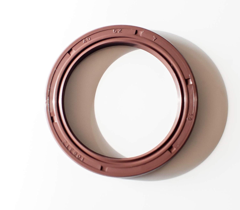 EAI Double Lip w// Spring Oil Seal 35X52X7 Viton TC Viton Coated Metal Case