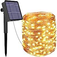 Guirnalda Luces Exterior Solar, Kolpop Cadena de Luces 26 Metros 240 LED, 8 Modos de Luz, Decoración para Navidad…