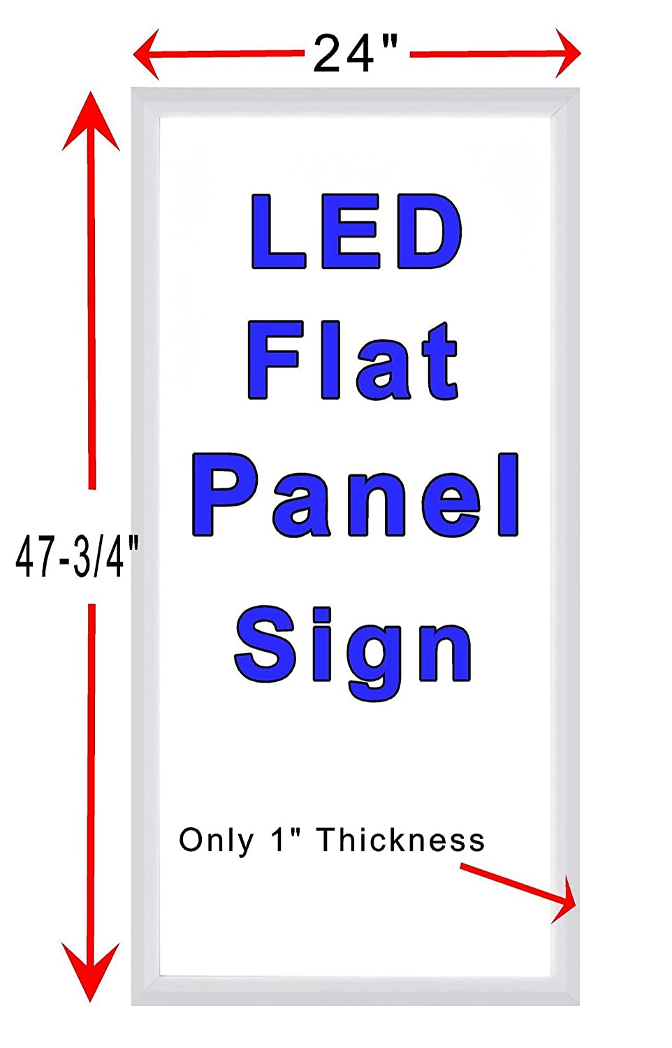 We Buy Gold Silver Coins Jewelry 24 x 48 LED Flat Panel Light Box Sign