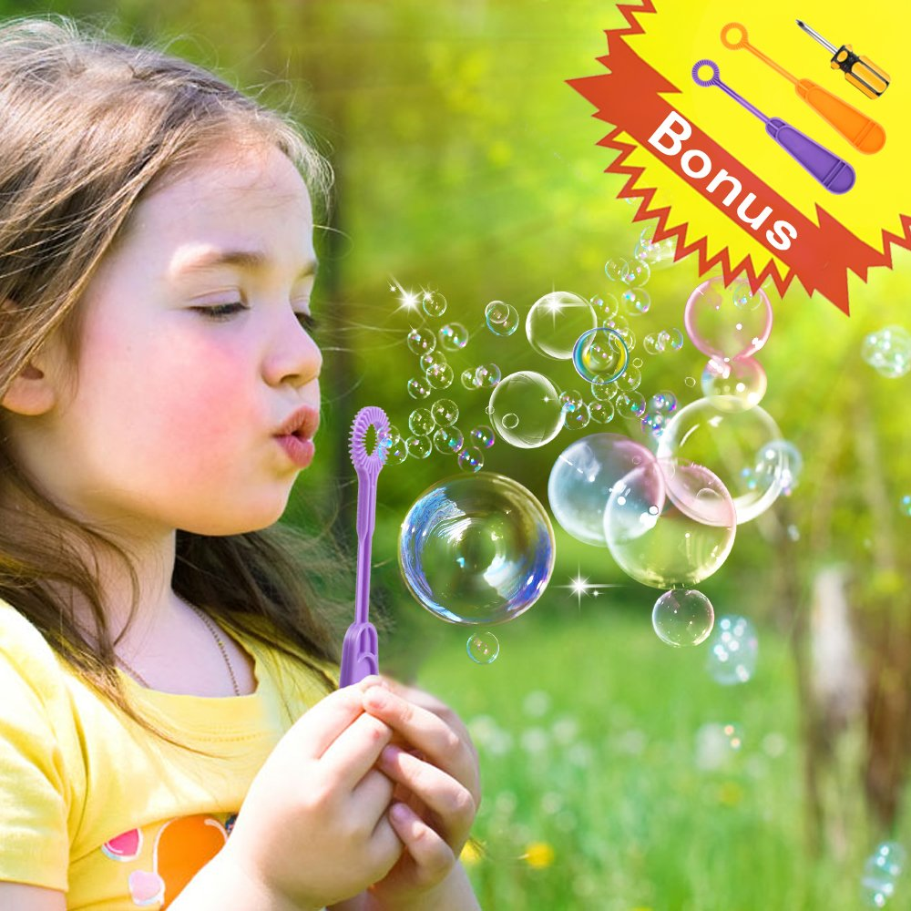 AMOSTING Bubble Machine Automatic Bubbles Blower for Kids Outdoor Toys Party Supplies Bubble Maker with Bubble Wands by AMOSTING (Image #7)