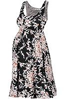 Beachcoco Women's Maternity Knee Length Printed Tank Dress