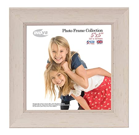 Inov8 British Made Traditional Picturephoto Frame Square 5x5 Inch