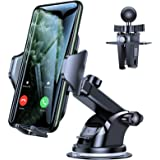 VICSEED Car Phone Mount, [Thick Case & Big Phones Friendly] Long Arm Suction Cup Phone Holder for Car Dashboard Windshield Ai