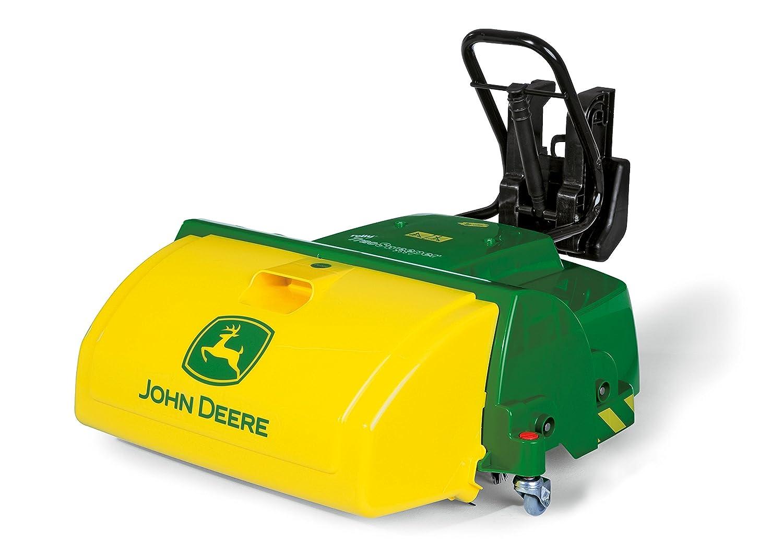 Rolly Toys 409716 rollyTrac Sweeper John Deere, Kehrmaschiene für Traktor rollyJunior, rollyFarmtrac, rollyFarmtrac Classic, rollyFarmtrac Premium, rollyX-Trac, rollyTruck (Unimog), ab 3 Jahren