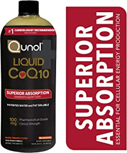 Qunol Liquid CoQ10 100mg, Superior Absorption Natural Supplement Form of Coenzyme Q10, Antioxidant for Heart Health, Orange Pineapple Flavor, 90 Servings, 30.4 Oz Bottle