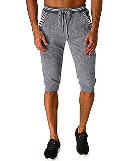 MODCHOK Hombre Pantalones Cortos Bermuda Jogging Bolsillos Deportivo Casual  Cordón 702268fa3eaa