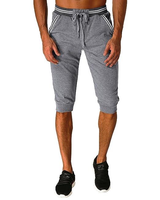 MODCHOK Hombre Pantalones Cortos Bermuda Jogging Bolsillos Deportivo Casual Cordón: Amazon.es: Ropa y accesorios