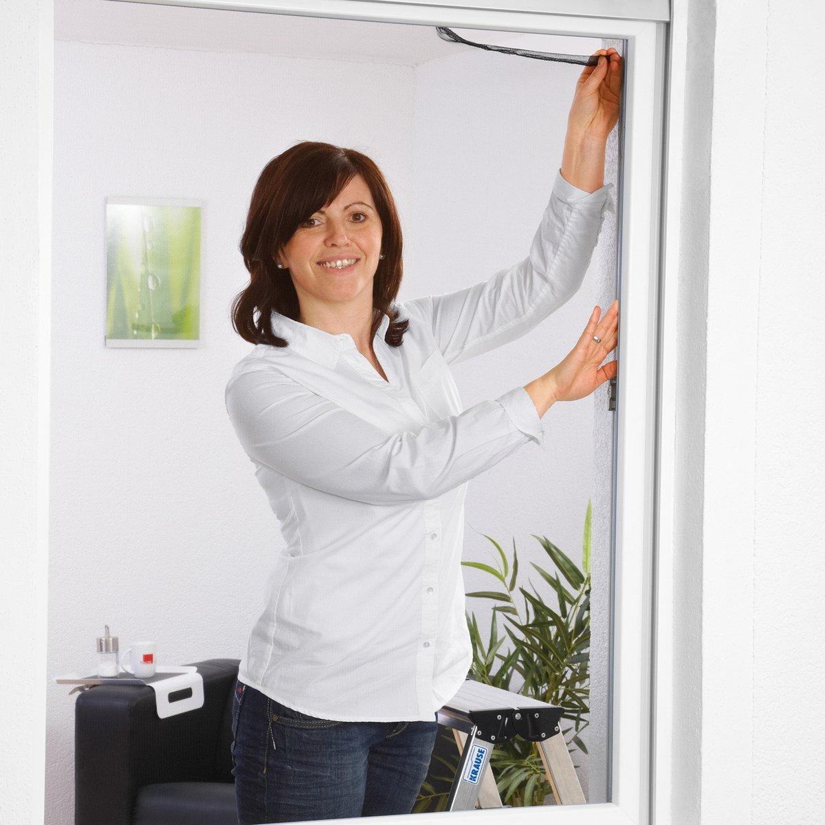 Culex Moustiquaire pour fenê tre Blanc 130 x 150 cm, en polyester, 100190101 de Cu 100190101de Cu 100190101-CU