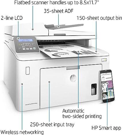 HP LaserJet Pro M148dw - Impresora Multifunción Wi-Fi (Laser, Impresión en Blanco y Negro), A4, 28 ppm 1200 x 1200 DPI, 260 hojas, color Blanco: Hp: Amazon.es: Informática