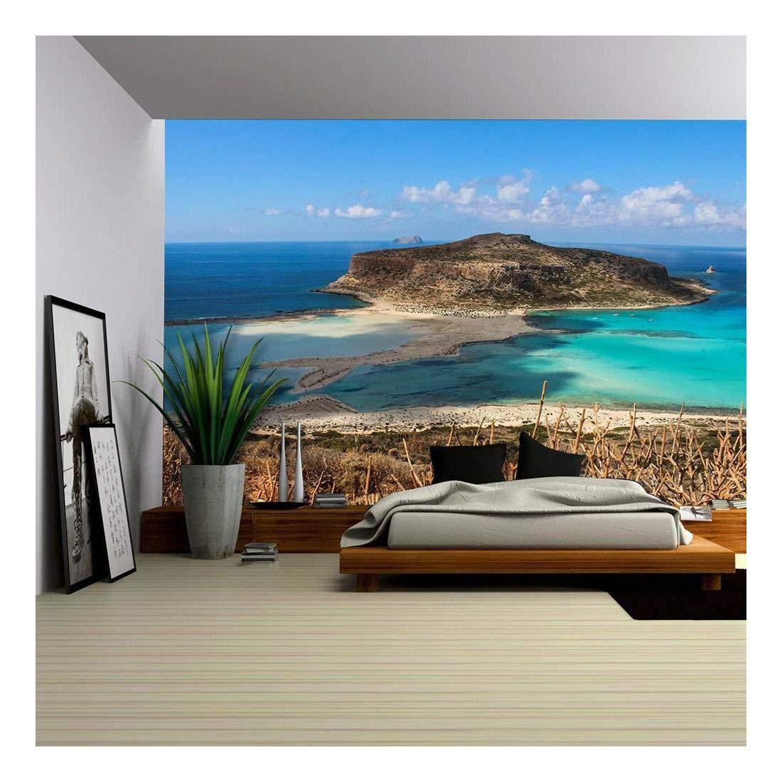 Exotic Beaches Gramvousa Island Balos Lagoon Crete Greece Wall