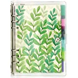 A5 6-Ring Loose Leaf Binder Journal from Chris.W, w/ 80 Insert Pages(Dot Grid/Square Grid/Ruled/Blank) + 6 Index Divider…