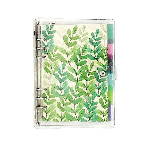 Amazon.com: Chris.W - Diario de hojas sueltas de 6 anillas ...
