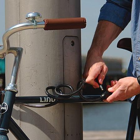 SHD Candado Bicicleta con Llave, Candado Bici Ligero Cable Largo y ...