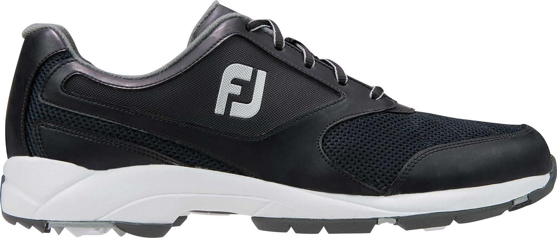 FootJoyゴルフシューズ陸上競技 B0764H9HGX 13 2E US|ブラック ブラック 13 2E US