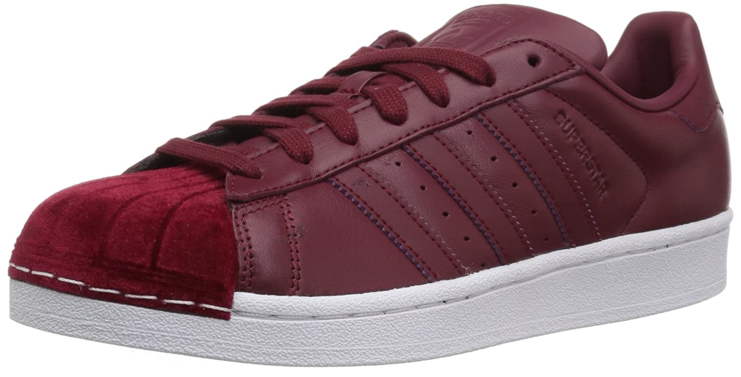adidas Women's Originals Superstar B06XPJB1JF 9.5 M US|Collegiate Burgundy/Collegiate Burgundy/White