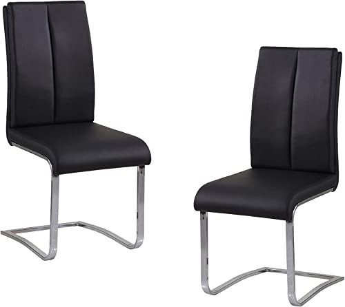 Best Master Furniture Bailey Modern Leather Dining Side Chair