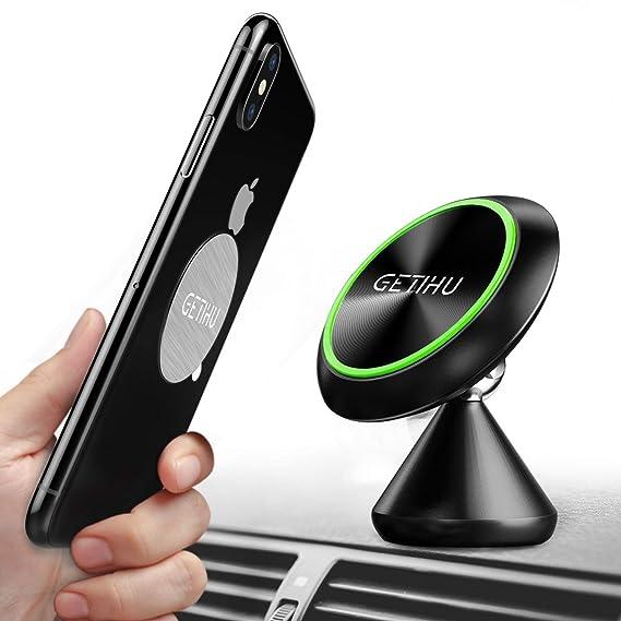 4420bdd0e77656 GETIHU Car Phone Mount Universal Magnetic Cell Phone Holder for Car  Dashboard 360 Rotation GPS Cradle