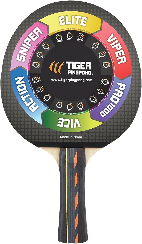 Amazon.com: Tiger Pro 1000 de ping pong raqueta de tenis de ...