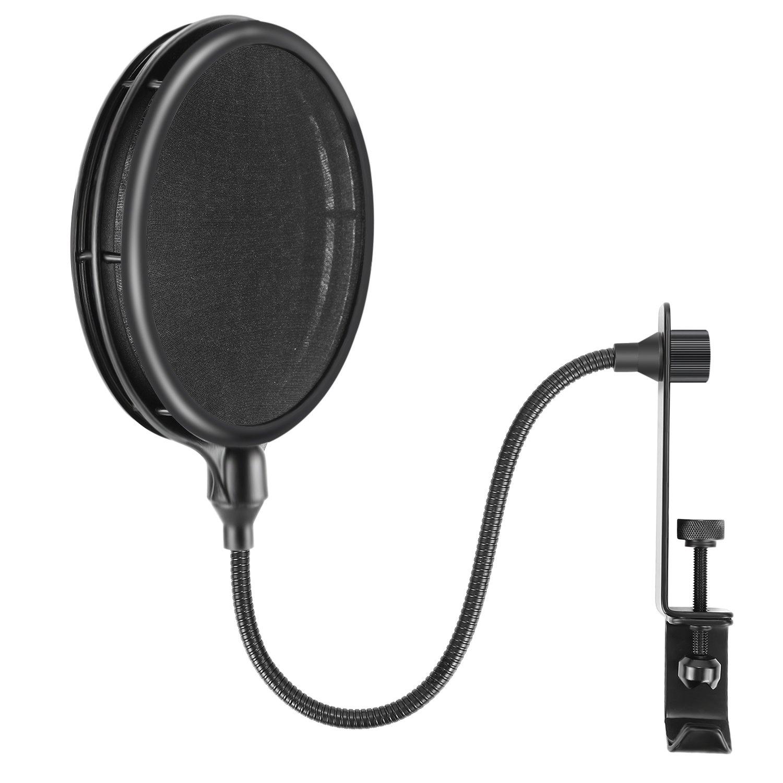 Neewer NW-019 Filtro de micrófono de doble capa con brazo...