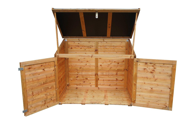 Chalet-Jardin 05-703544 Coffre de Rangement pour Jardin Bois + ...