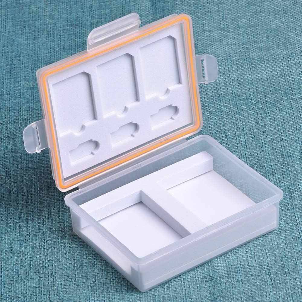 Nikon EN-EL23 Fuji NP-W126 Camera Battery Tectra Memory Card Storage Case Camera Battery Storage Case with SD TF Card Holder for Sony NP-FW50 NP-FP50 Canon LP-E12 LP-E17 NB-2L