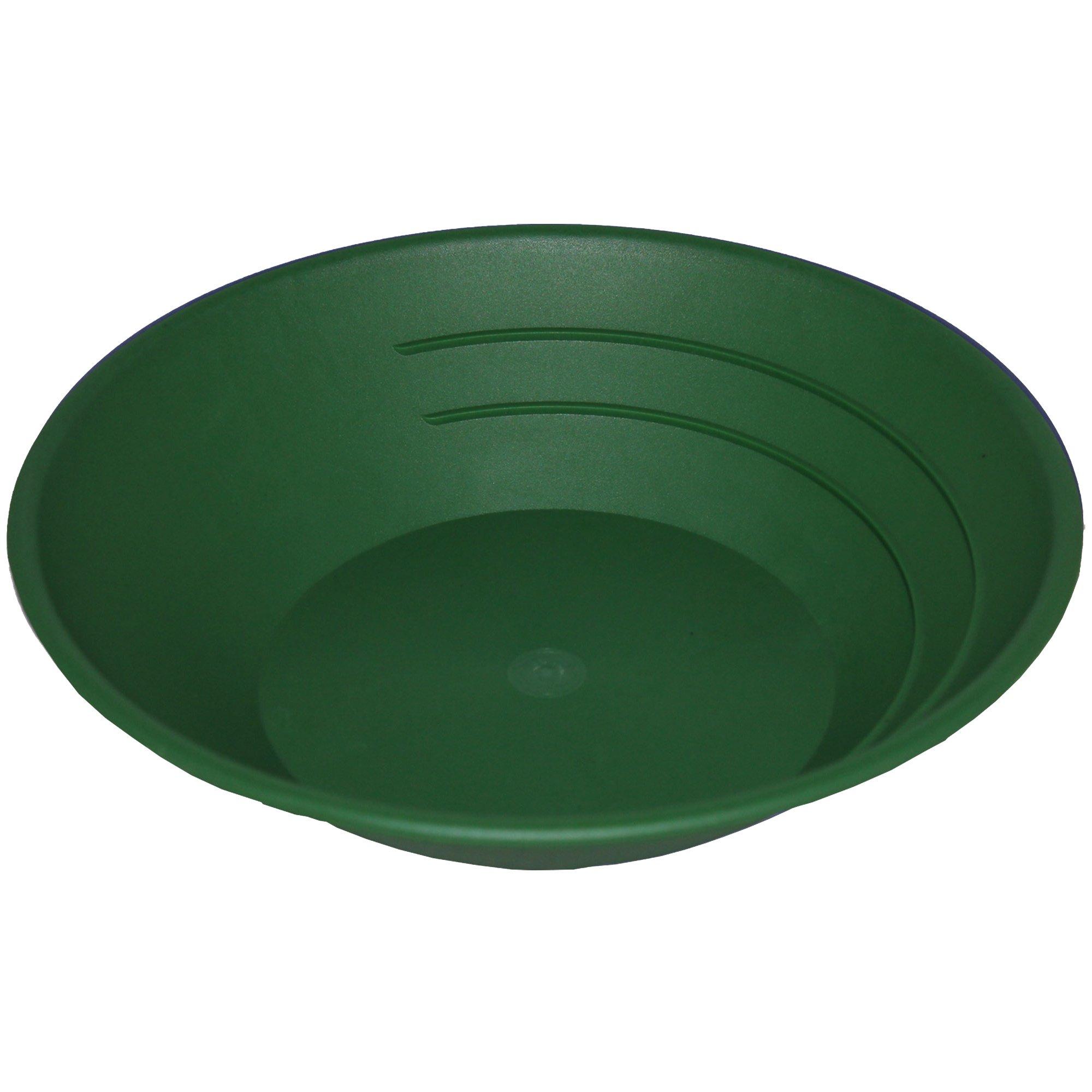 SE GP1001G One Hundred (100) Pack 10'' Green Plastic Gold Pan