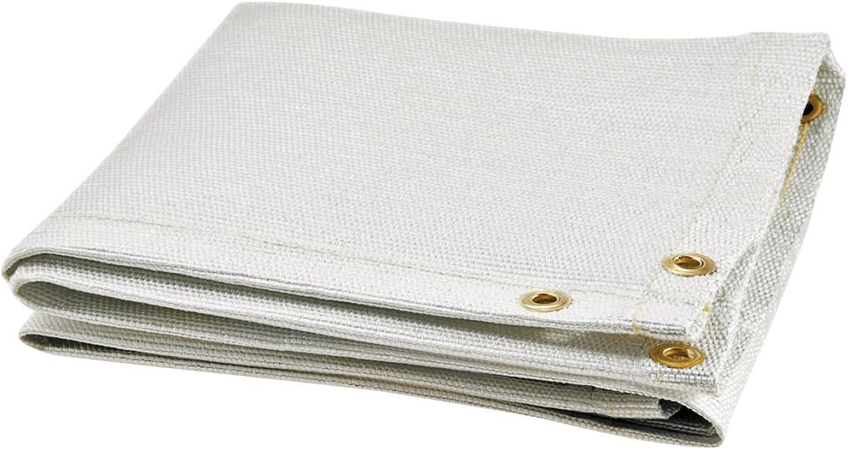 6 x 6 Steiner 372-6X6 Tough Guard 18-Ounce Heat Cleaned Fiberglass Welding Blanket Tan
