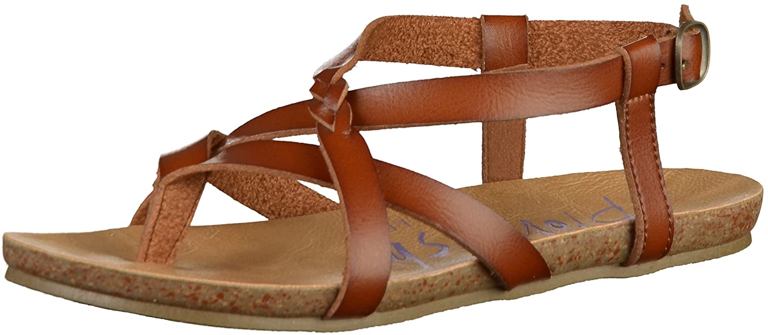 Blowfish Damen Granola-b Peeptoe Sandalen, Rose Gold  36 EU|Braun(Scotch)