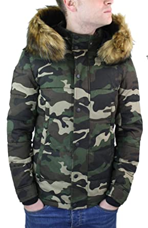grande vente e517c d30ee MTX Manteau Homme matelassé Doudoune Camouflage avec Capuche ...