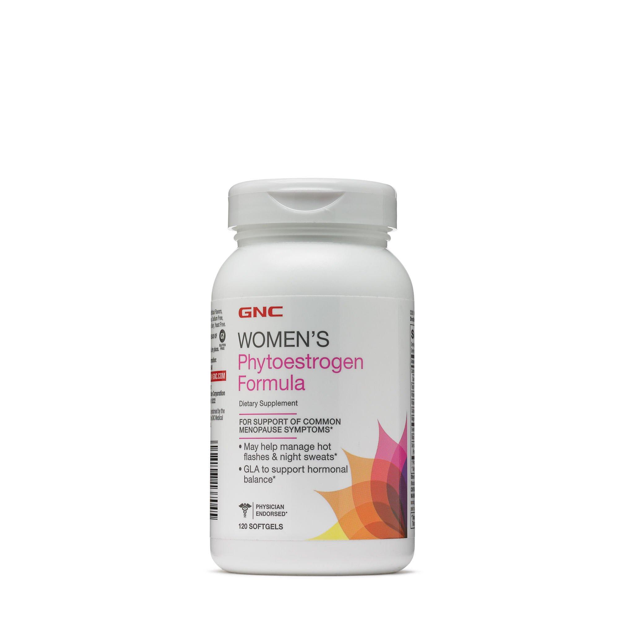 GNC Womens Phyto-Estrogen Formula for Common Menopause Symptom Relief - 120 Softgels